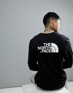 Черный лонгслив The North Face - Черный