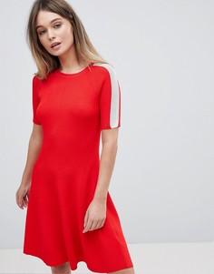 Короткое приталенное платье Tommy Hilfiger - Красный