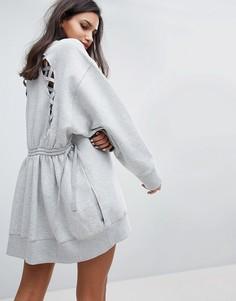 Трикотажное платье Gigi Hadid - Серый Tommy Hilfiger