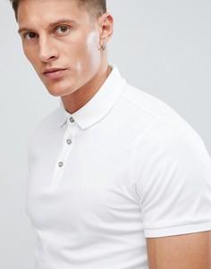 Поло из трикотажа Calvin Klein - Белый