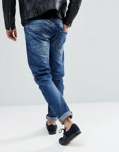 Состаренные джинсы узкого кроя G-Star Arc 3D - Синий