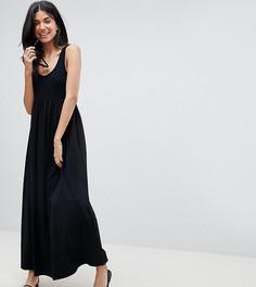 Платье макси из разных тканей ASOS DESIGN Tall - Черный