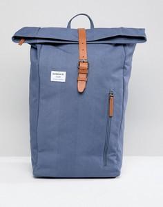 Синий рюкзак с ролл-топом Sandqvist Dante - Синий