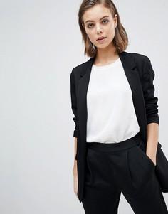 Приталенный блейзер AllSaints - Черный