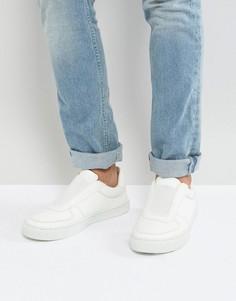 Белые кроссовки-слипоны ASOS - Белый