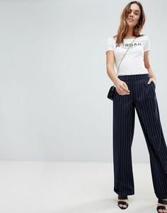 Широкие брюки в полоску Morgan - Темно-синий