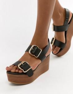 Кожаные туфли на платформе ASOS DESIGN Tori Premium - Черный