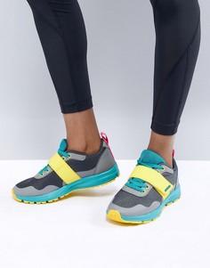 Серые кроссовки с желтыми элементами ASOS 4505 - Мульти