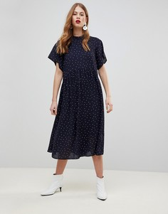 Свободное платье в горошек Y.A.S - Мульти