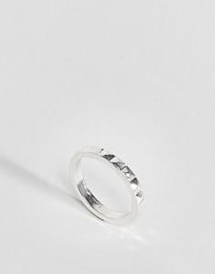 Ограненное кольцо на большой палец ASOS DESIGN - Серебряный