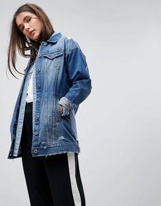 Удлиненная джинсовая куртка Only - Синий