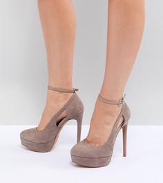 Туфли для широкой стопы на каблуке и платформе ASOS DESIGN Partyline - Бежевый