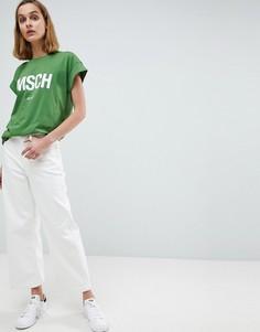 Комбинируемые джинсы с широкими штанинами Moss Copenhagen - Белый