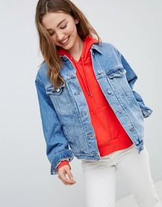 Синяя выбеленная джинсовая куртка ASOS DESIGN - Синий