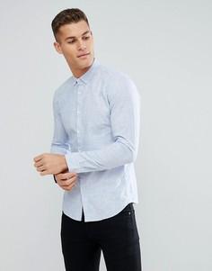 Синяя фактурная узкая рубашка Tom Tailor - Синий