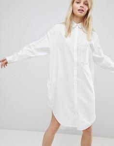 Oversize платье-рубашка Monki - Белый