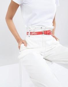 Ремень с вышивкой в стиле вестерн Pieces - Красный