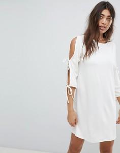 Платье с завязками Noisy May - Белый