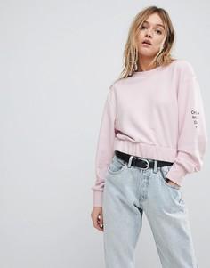 Укороченный свитшот Cheap Monday - Розовый