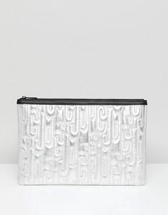 Клатч с тиснением логотипа Juicy By Juicy Couture - Серебряный
