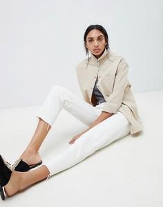 Белые джинсы прямого кроя с контрастной строчкой ASOS DESIGN Florence - Белый