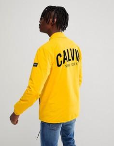 Спортивная куртка с принтом на спине Calvin Klein Jeans - Желтый