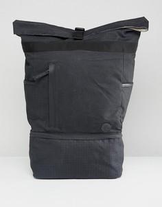 Черный рюкзак с ролл-топом и маленьким логотипом Timberland - Черный