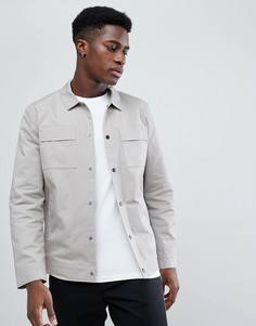 Куртка с карманами на груди Selected Homme - Серый