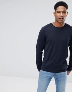 Вязаный джемпер с рукавами реглан Selected Homme - Темно-синий