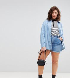 Синие джинсовые шорты в винтажном стиле ASOS DESIGN Curve - Синий