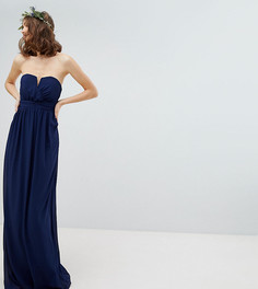 Платье-бандо макси TFNC Tall - Темно-синий