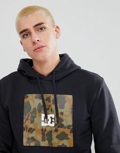 Худи с камуфляжной вставкой с логотипом DC Shoes - Черный