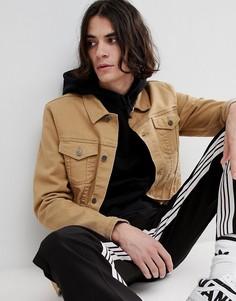 Светло-коричневая облегающая джинсовая куртка ASOS - Рыжий