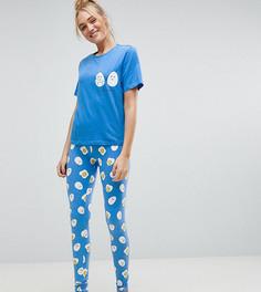 Пижамный комплект ASOS TALL Crack Me Up - Синий