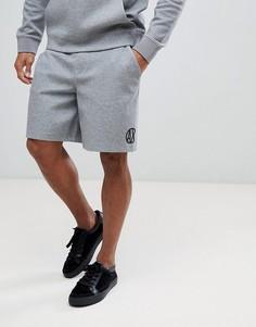 Серые трикотажные шорты с логотипом сзади Armani Exchange - Серый