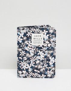 Обложка для паспорта с цветочным принтом Jack Wills Whitby - Темно-синий