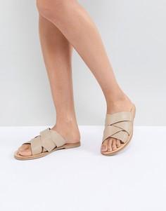 Бежевые кожаные сандалии Sol Sana - Бежевый