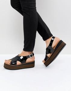 Лакированные кожаные туфли на платформе ASOS DESIGN Tornado - Черный