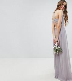 Платье макси с отделкой на спине TFNC Tall - Серый
