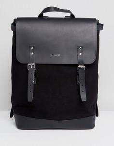 Черный рюкзак Sandqvist Hege - Черный