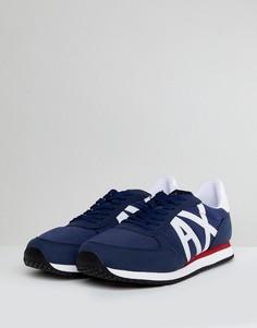 Темно-синие кроссовки с логотипом Armani Exchange Ax - Темно-синий