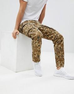 Суженные книзу брюки карго с камуфляжным принтом G-Star BeRaw Rovic - Коричневый