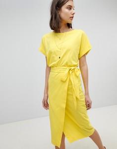 Трикотажное платье BA&SH - Желтый Ba&Sh