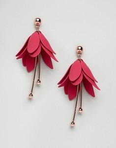 Серьги-подвески в виде цветков Ted Baker - Розовый