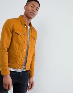 Джинсовая куртка горчичного цвета River Island - Желтый