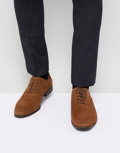 Светло-коричневые замшевые туфли оксфорды River Island - Рыжий