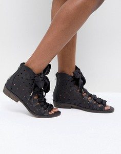 Сандалии со шнуровкой на ленточку Free People - Черный