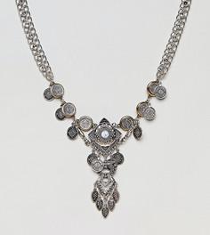 Ожерелье с подвесками-монетами эксклюзивно для ASOS DESIGN Curve - Серебряный