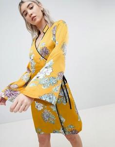 Платье с рукавами-кимоно Boohoo - Желтый