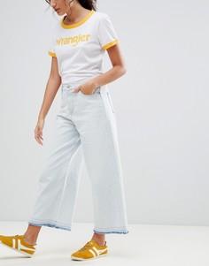 Широкие укороченные джинсы Wrangler - Белый